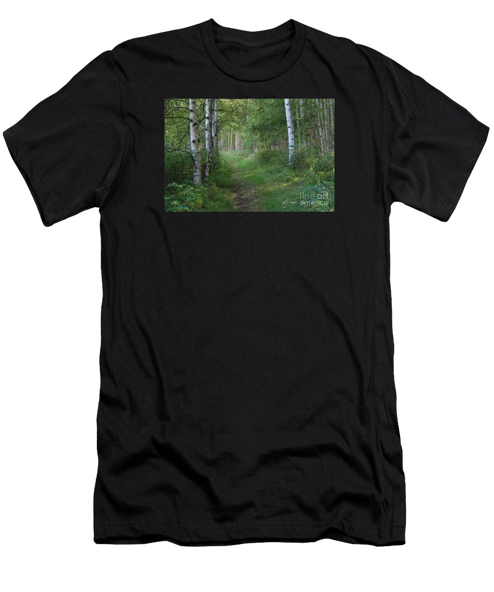 A Suspended Silence Men's T-Shirt (Athletic Fit) featuring the photograph A Suspended Silence Where The Wild Things Are by Sharon Mau