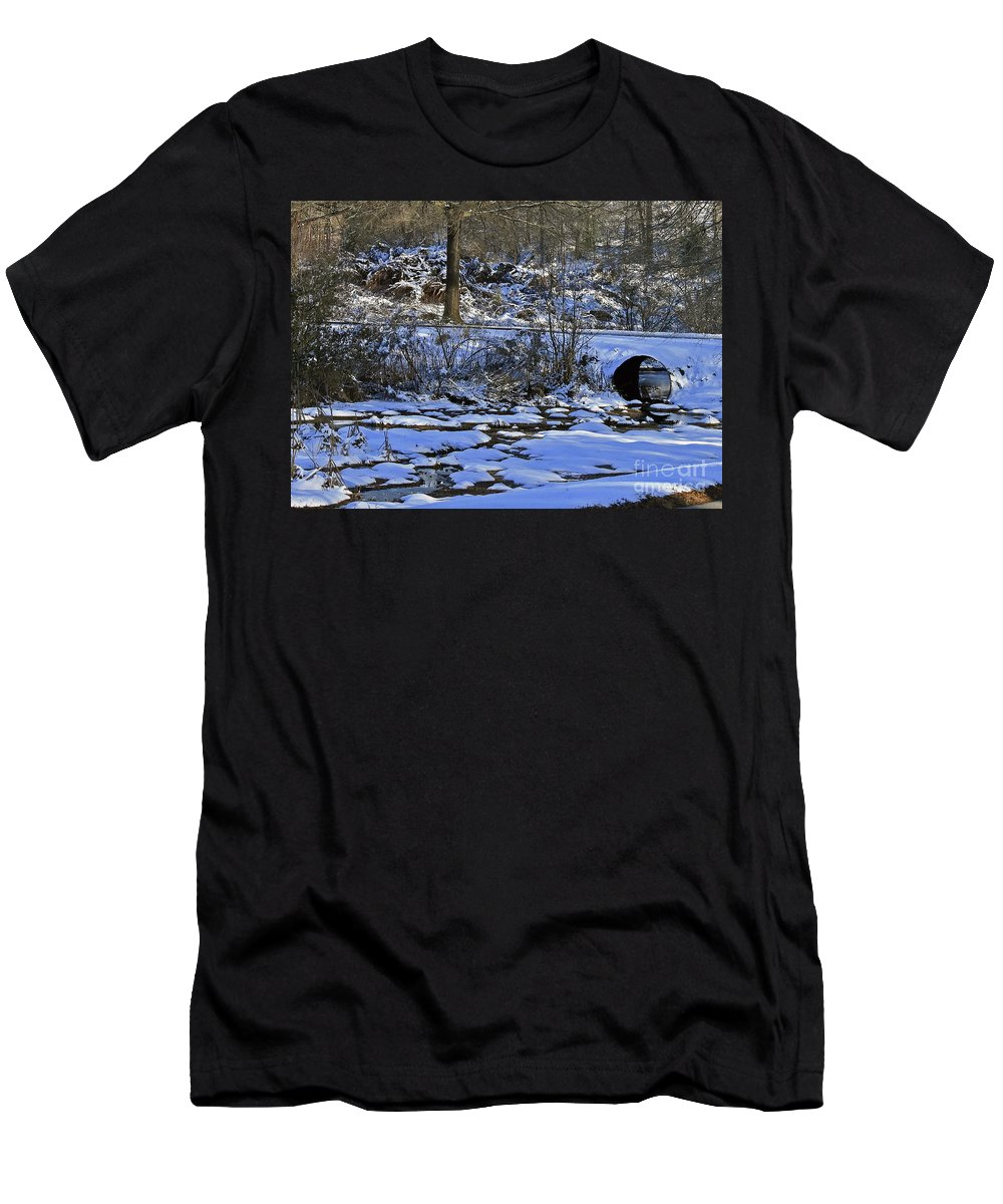 Ice Men's T-Shirt (Athletic Fit) featuring the photograph A Time To Thaw by Lydia Holly