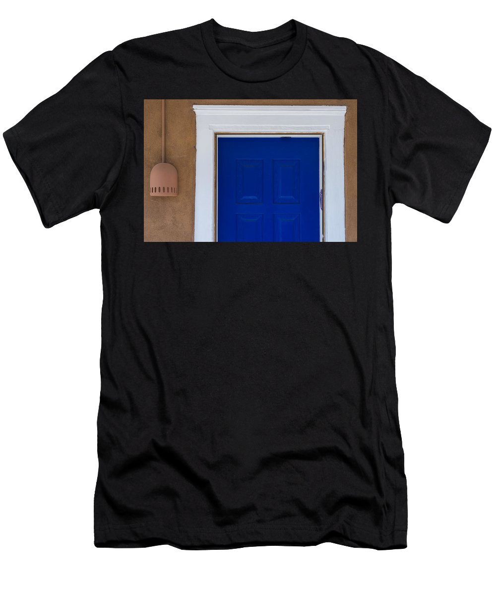 Canyon Road Men's T-Shirt (Athletic Fit) featuring the photograph A Touch Of Blue by Gary Lengyel