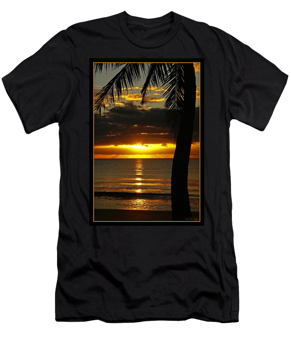 Landscape Men's T-Shirt (Athletic Fit) featuring the photograph A Touch Of Paradise by Holly Kempe