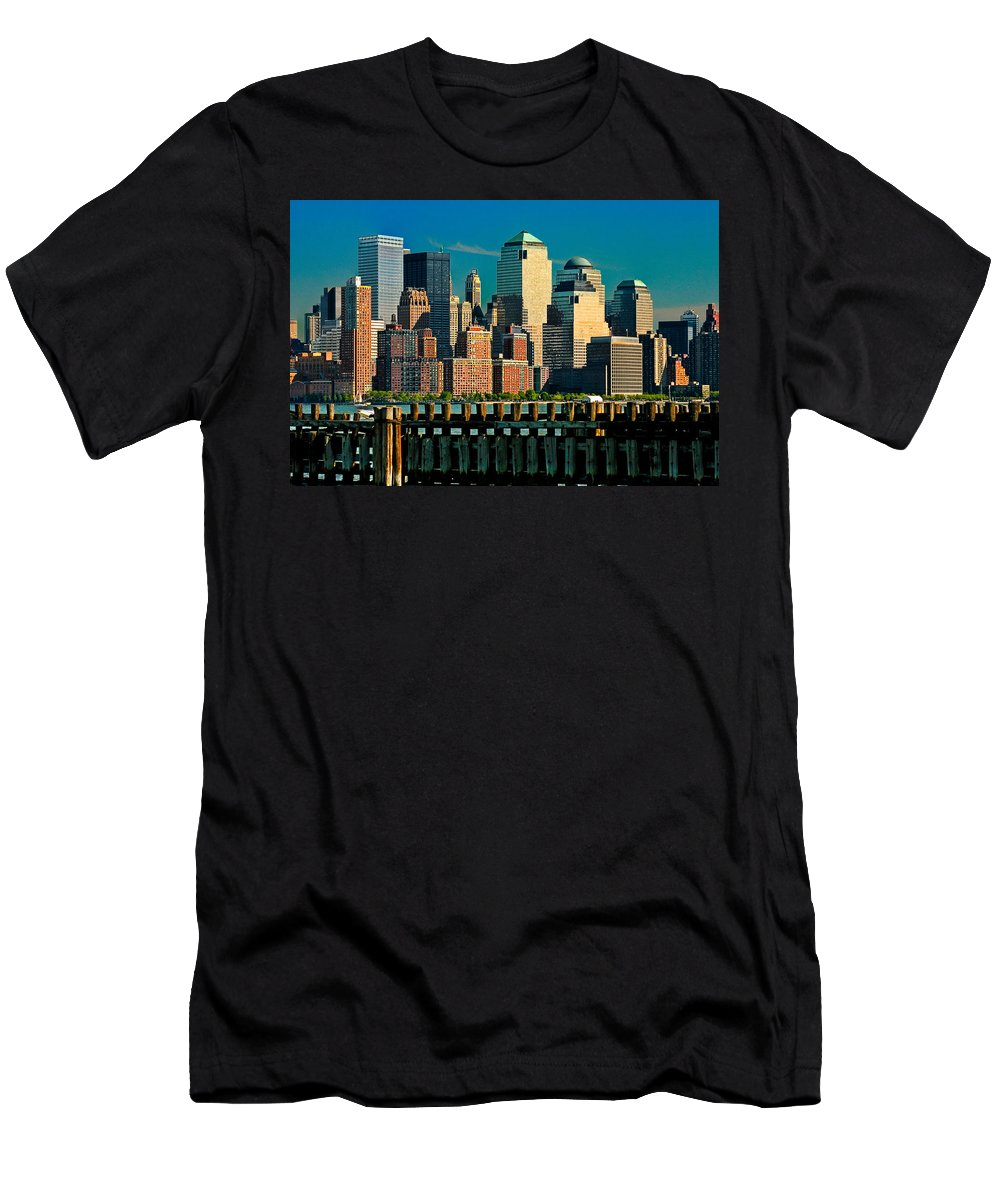 Manhattan Men's T-Shirt (Athletic Fit) featuring the photograph A View From Hoboken by Chris Lord