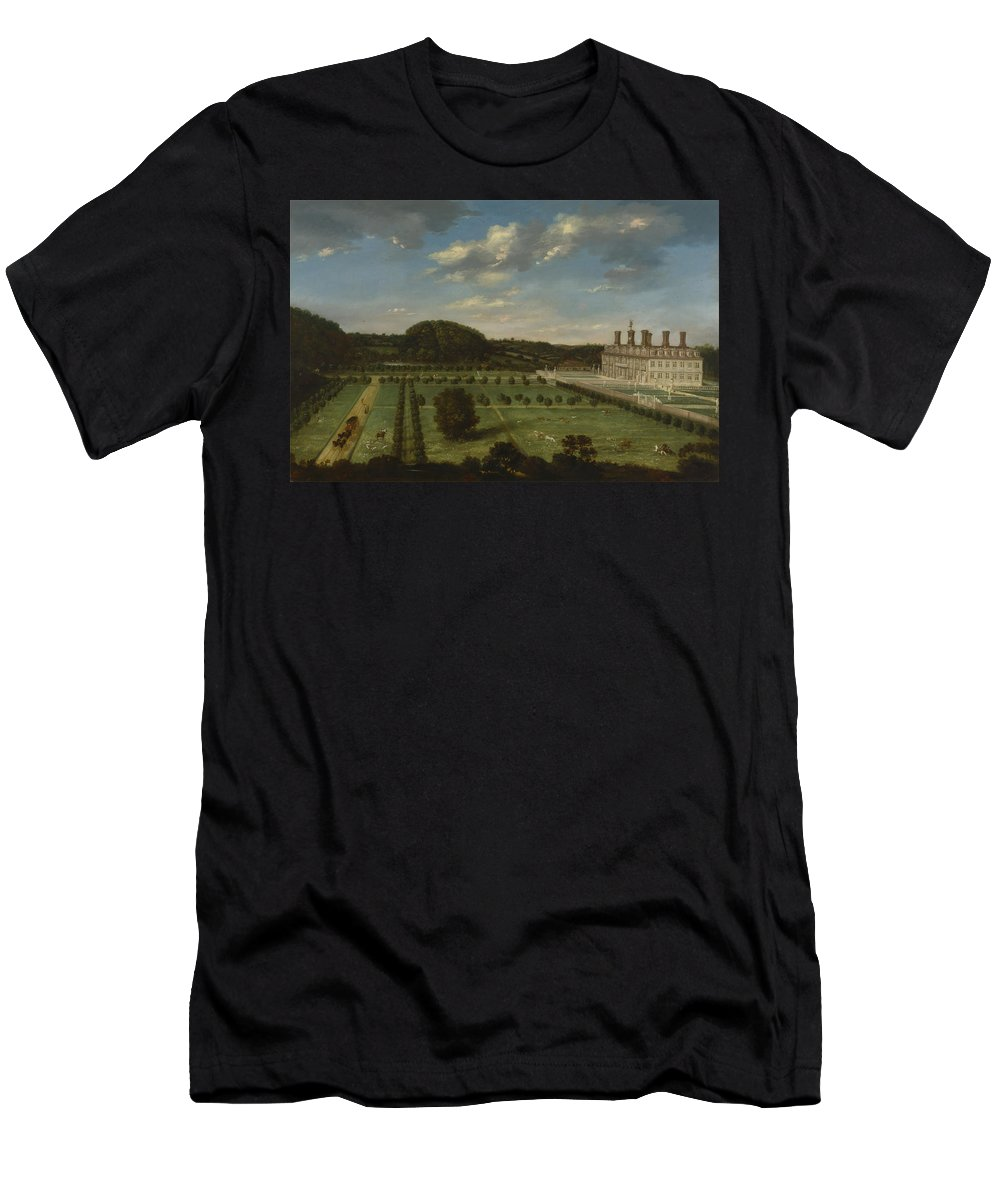Jan Siberechts - A View Of Bayhall Men's T-Shirt (Athletic Fit) featuring the painting A View Of Bayhall by MotionAge Designs