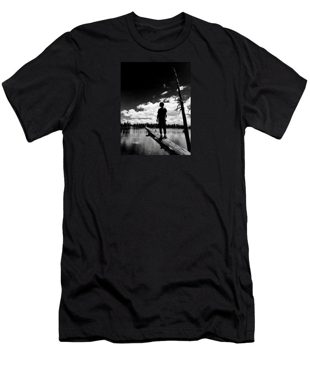 Clouds Men's T-Shirt (Athletic Fit) featuring the photograph A Walk In The Clouds by Braden Moran