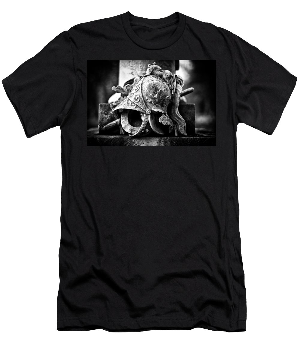 Helmet Men's T-Shirt (Athletic Fit) featuring the photograph A Warrior Remembered by Scott Wyatt