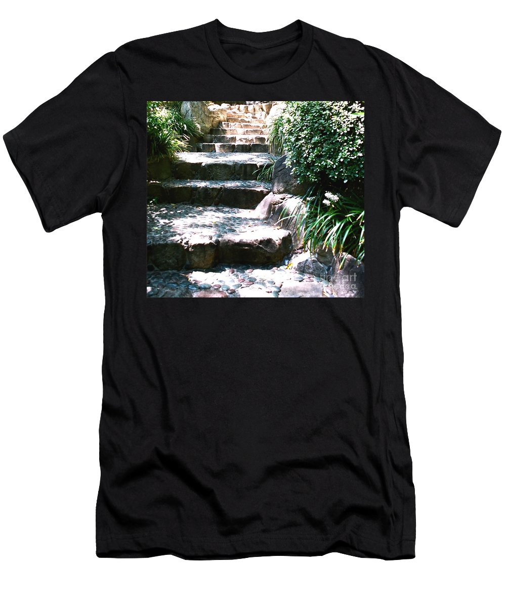 Stairs Men's T-Shirt (Athletic Fit) featuring the photograph A Way Out by Dean Triolo