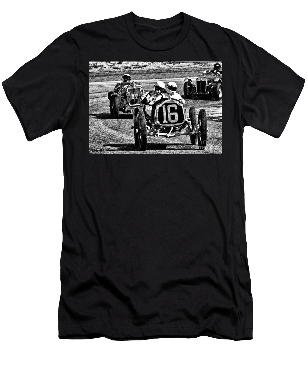 Race Cars Men's T-Shirt (Athletic Fit) featuring the photograph A339 by Tom Griffithe