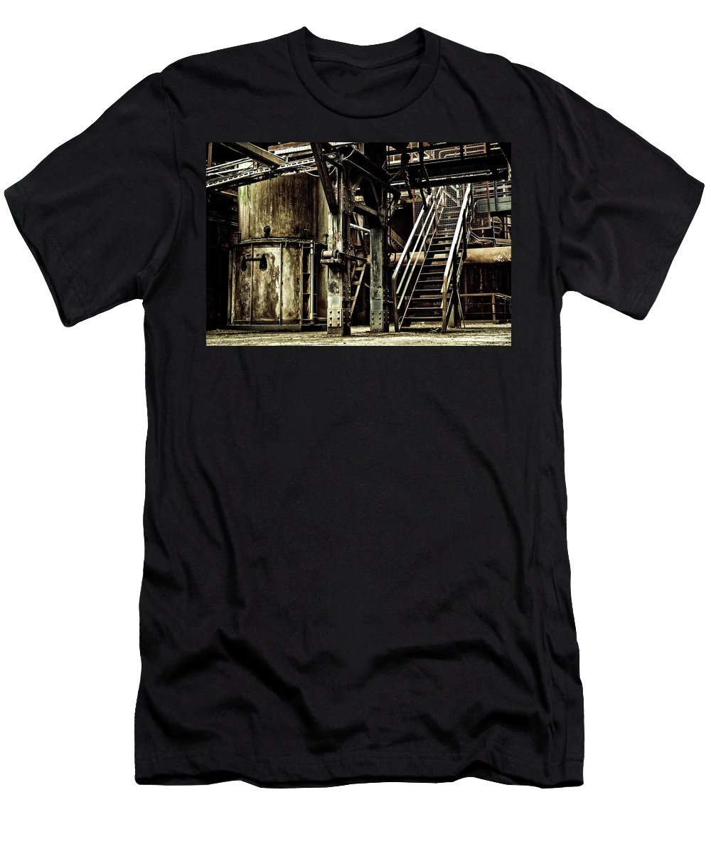 Industry Men's T-Shirt (Athletic Fit) featuring the photograph Abandoned Industry by Mountain Dreams