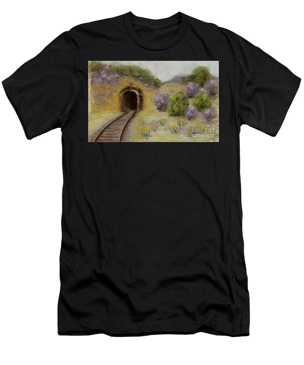 Mine T-Shirt featuring the pastel Abandoned Mine by Laurie Morgan