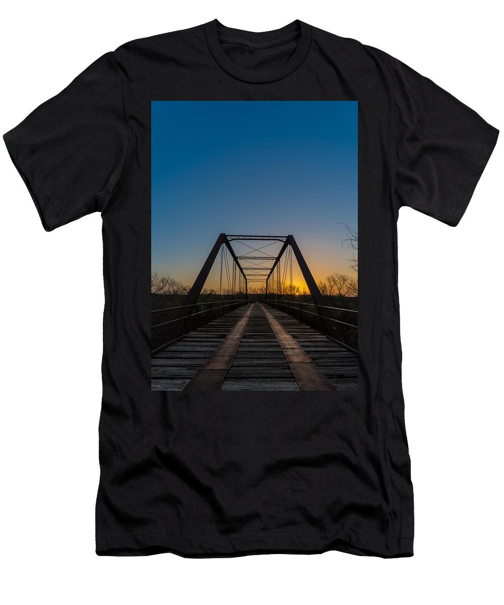 Men's T-Shirt (Athletic Fit) featuring the photograph Abandoned Steel Bridge by David Downs