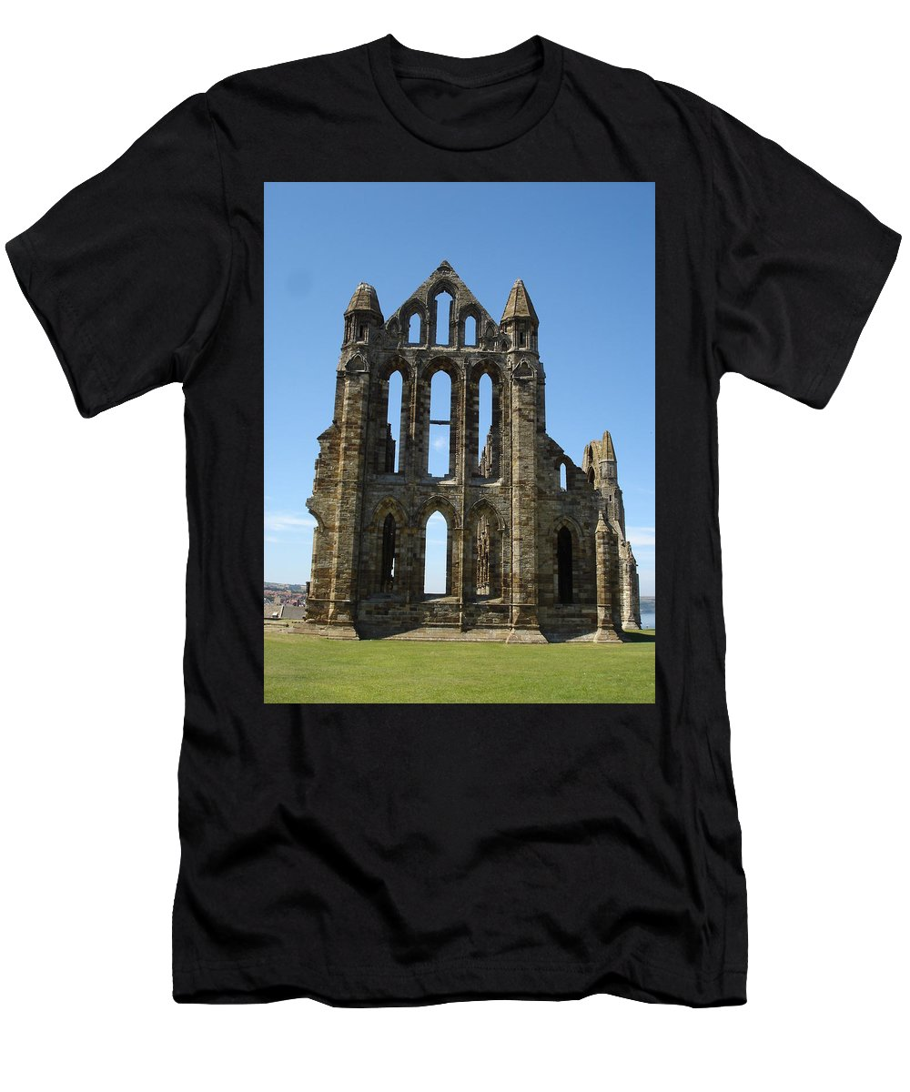 Abby Men's T-Shirt (Athletic Fit) featuring the photograph Abbey At Whitby by Susan Baker