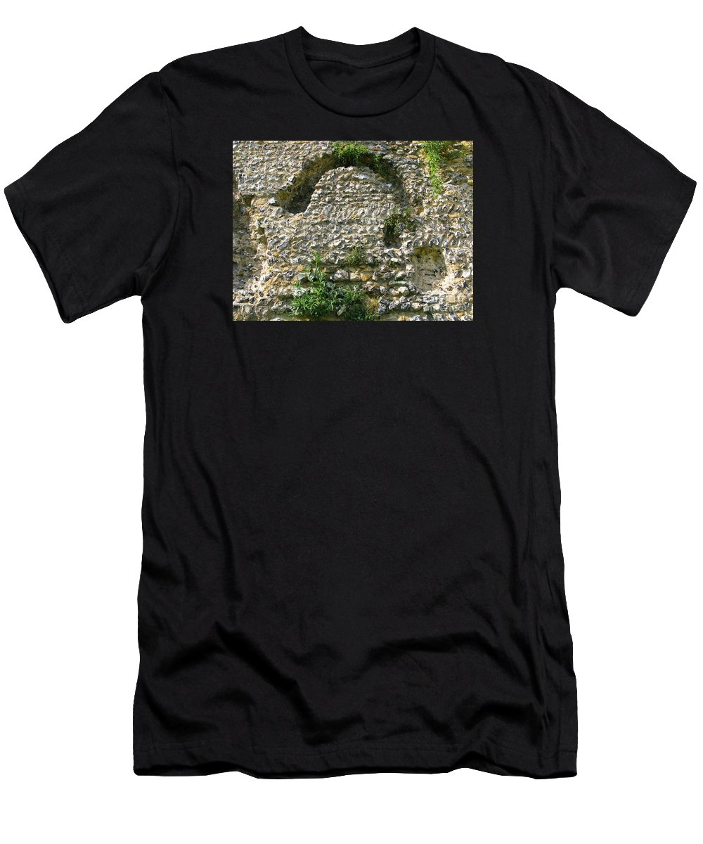 England Men's T-Shirt (Athletic Fit) featuring the photograph Abbey Ruins by Ann Horn