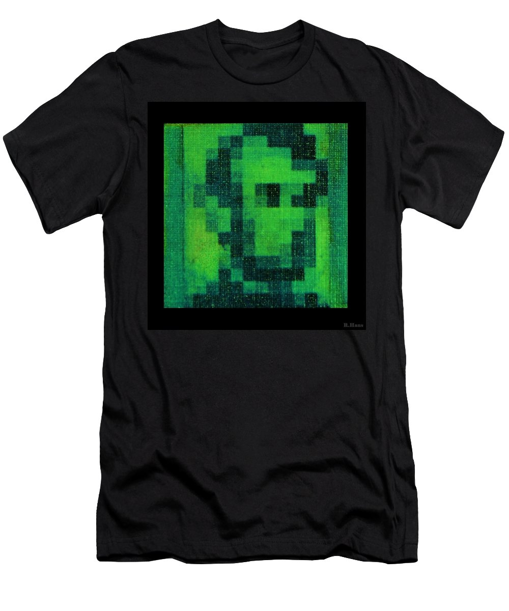 Green Men's T-Shirt (Athletic Fit) featuring the photograph Abe In Green by Rob Hans