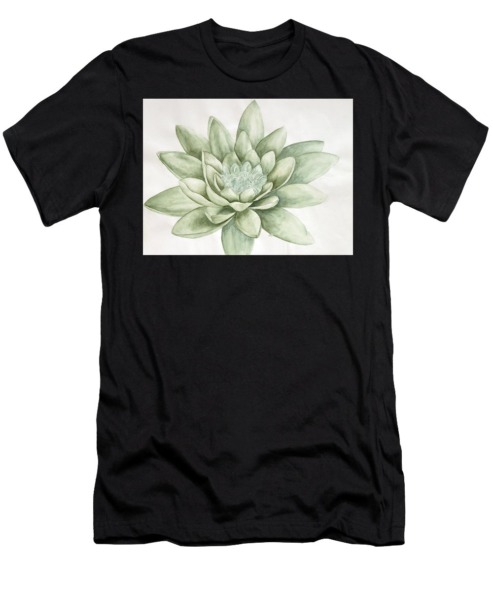 Flower Men's T-Shirt (Athletic Fit) featuring the painting Abhi13 by Abirami