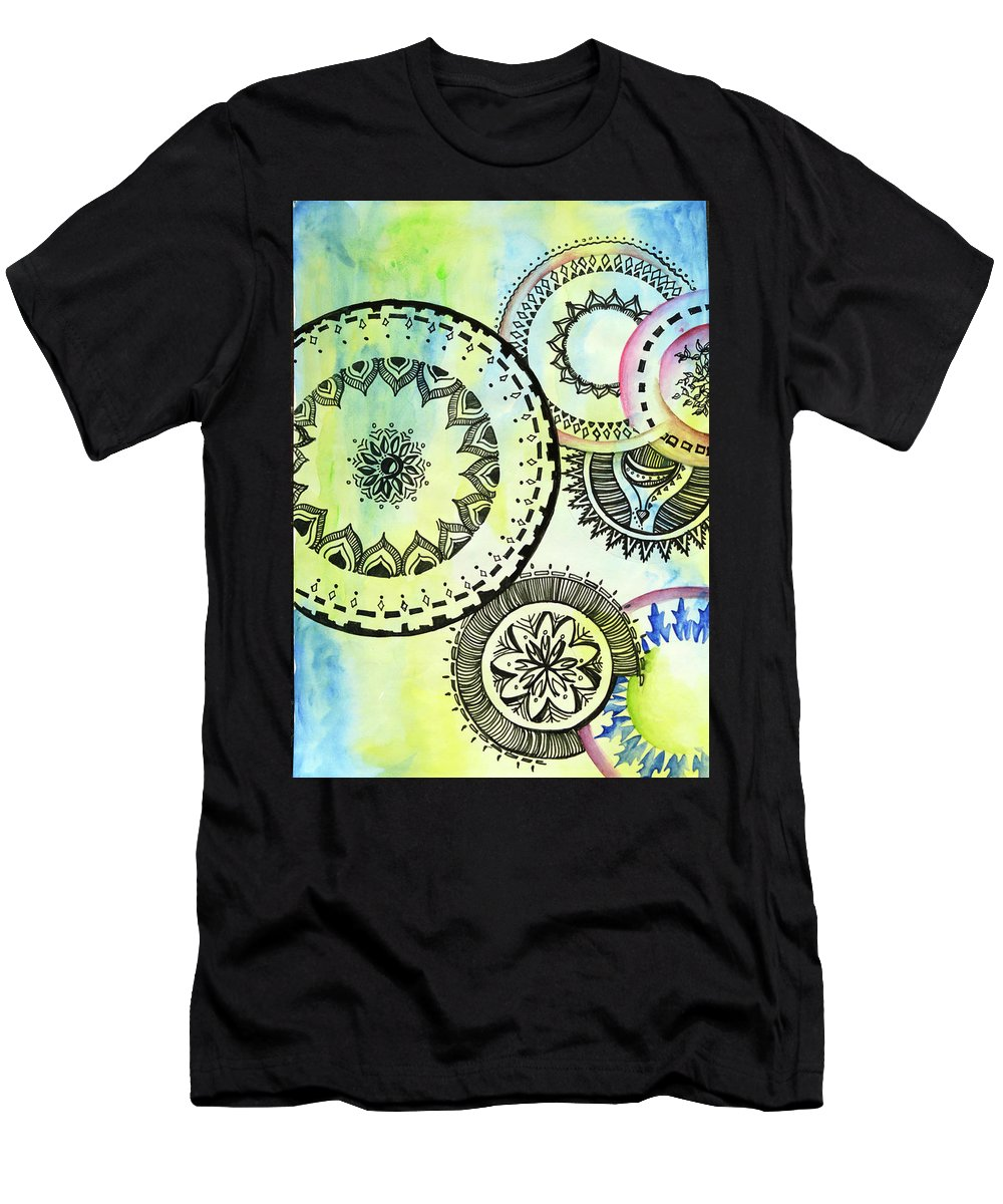 Design Men's T-Shirt (Athletic Fit) featuring the painting Abi03 by Abirami