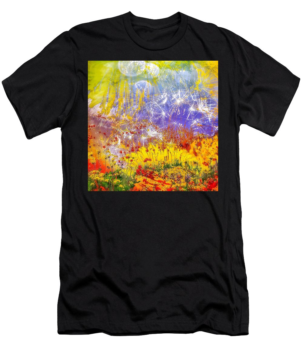 Ablaze Men's T-Shirt (Athletic Fit) featuring the photograph Ablaze by LeAnne Perry