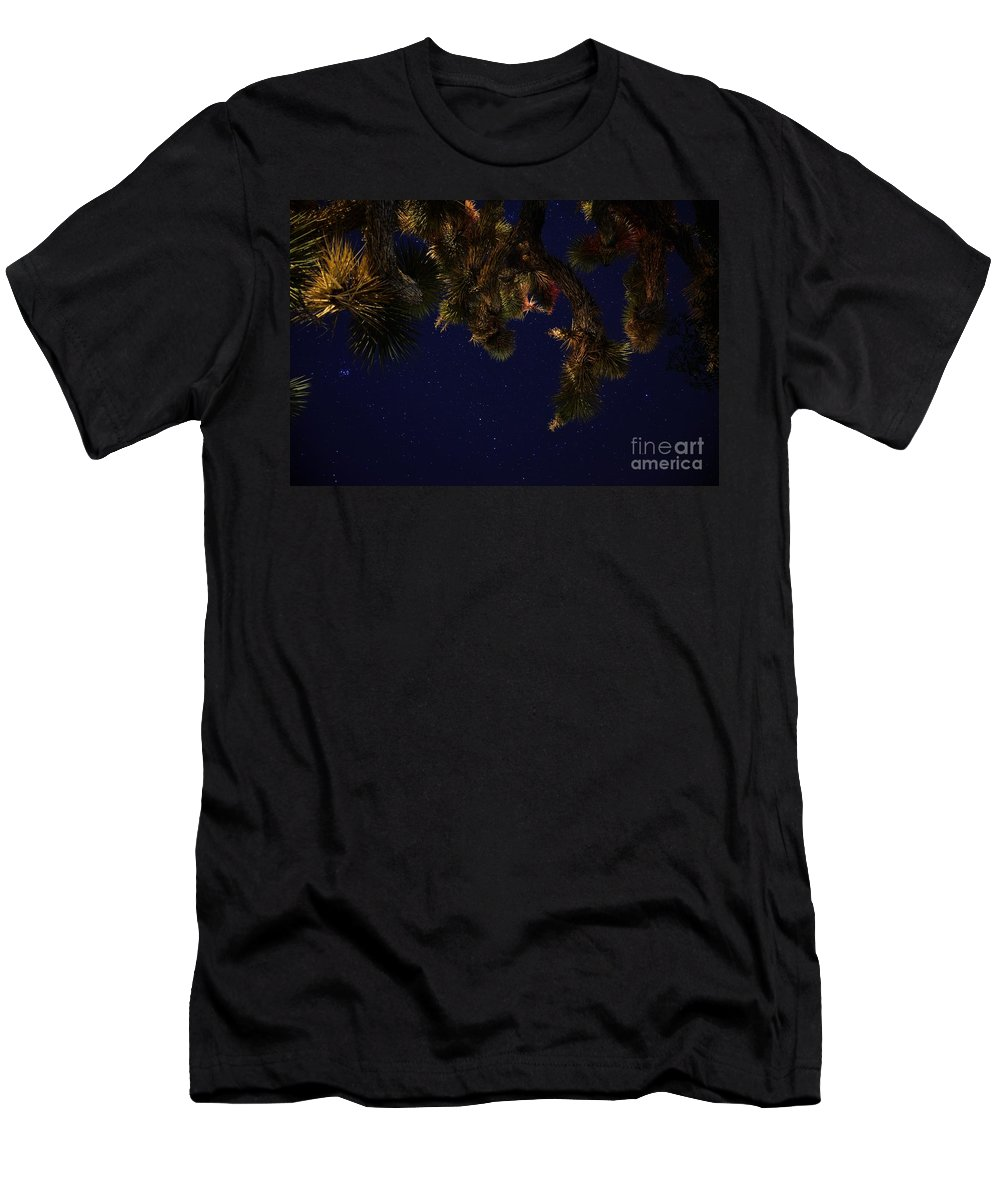 Night Stars Men's T-Shirt (Athletic Fit) featuring the photograph Above Me by Angela J Wright
