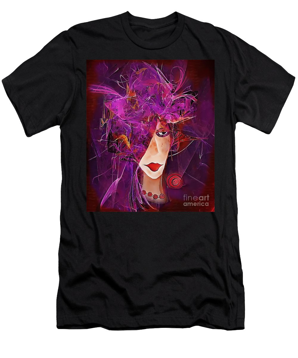 Graphics Men's T-Shirt (Athletic Fit) featuring the digital art Abs 0276 by Marek Lutek