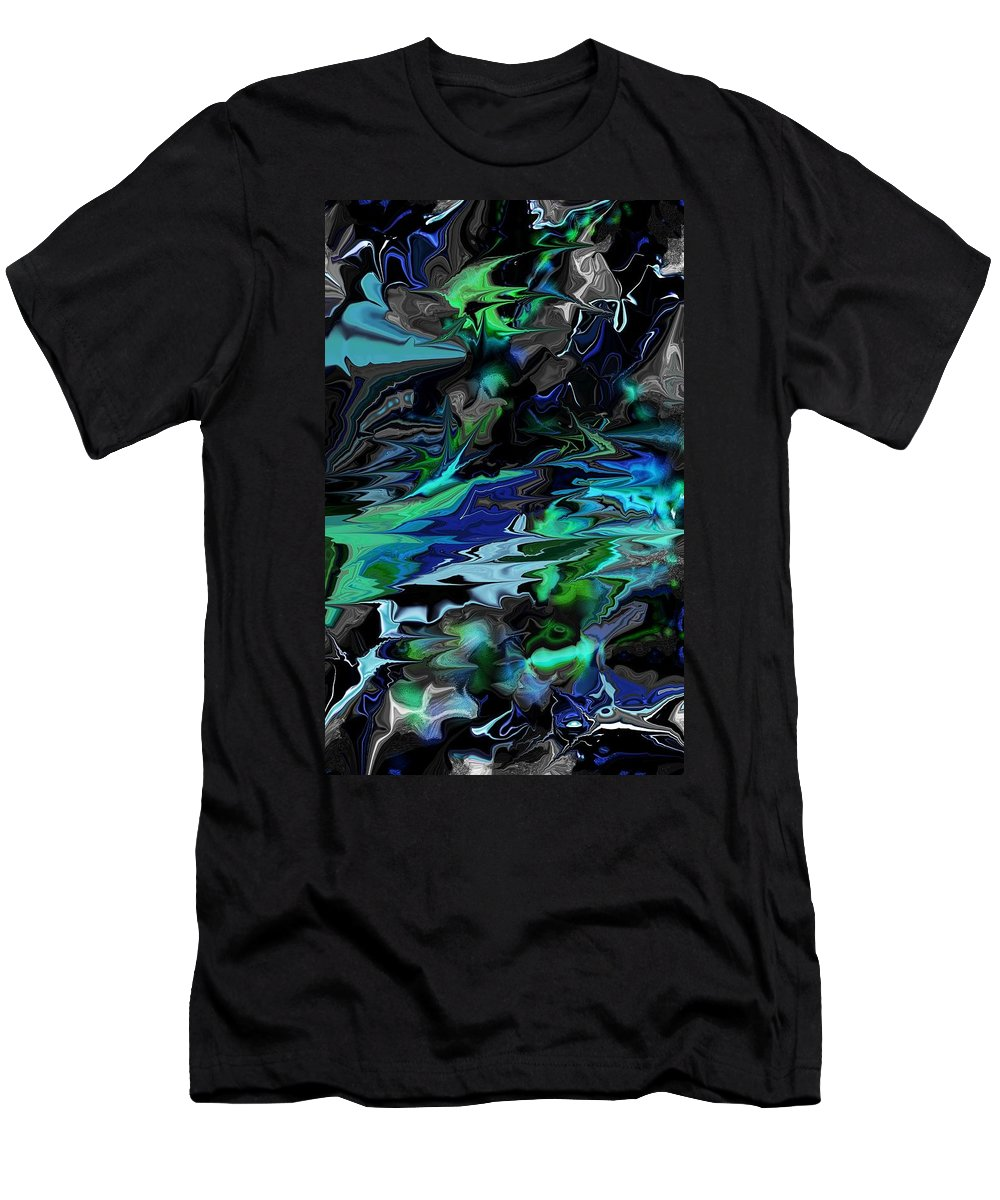 Abstract Men's T-Shirt (Athletic Fit) featuring the digital art Abstract 011211 by David Lane