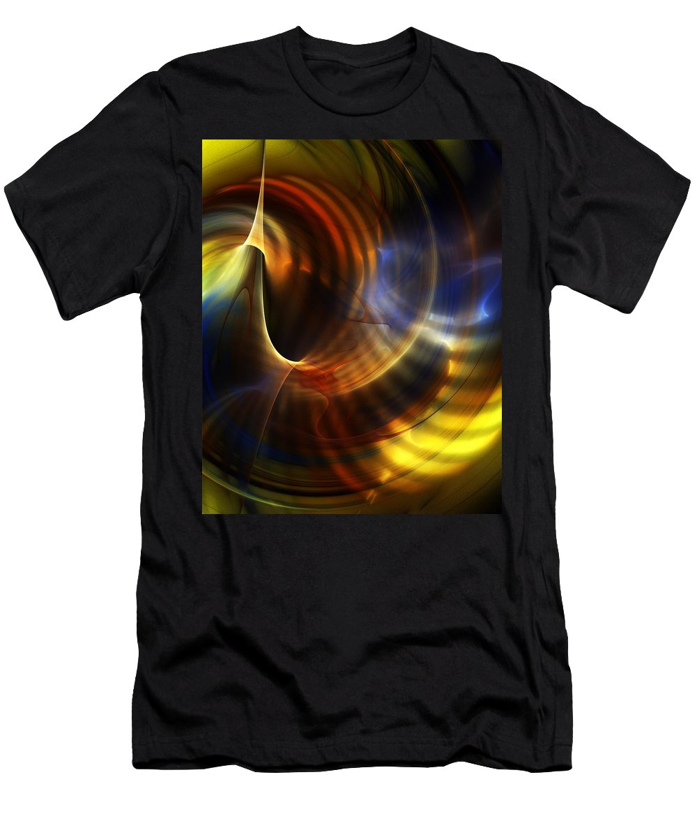 Fine Art T-Shirt featuring the digital art Abstract 040511 by David Lane