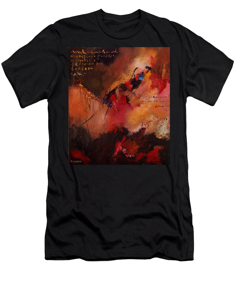 Abstract Men's T-Shirt (Athletic Fit) featuring the painting Abstract 0408 by Pol Ledent