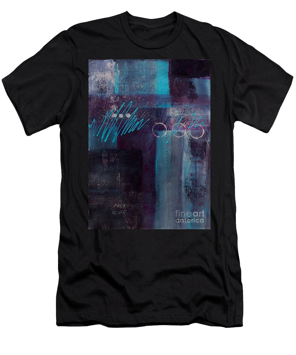 Abstract Painting Men's T-Shirt (Athletic Fit) featuring the painting Abstract 053 by Donna Frost