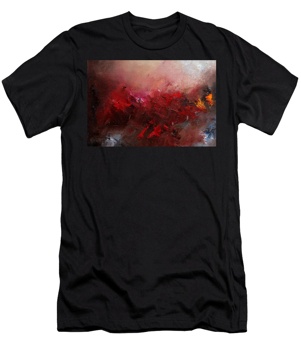 Abstract Men's T-Shirt (Athletic Fit) featuring the painting Abstract 056 by Pol Ledent