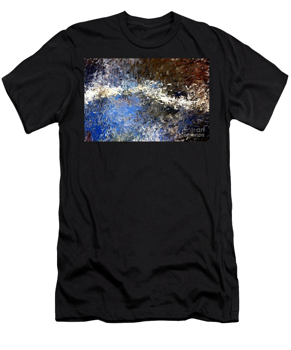 Abstract Men's T-Shirt (Athletic Fit) featuring the digital art Abstract 06-03-09b by David Lane