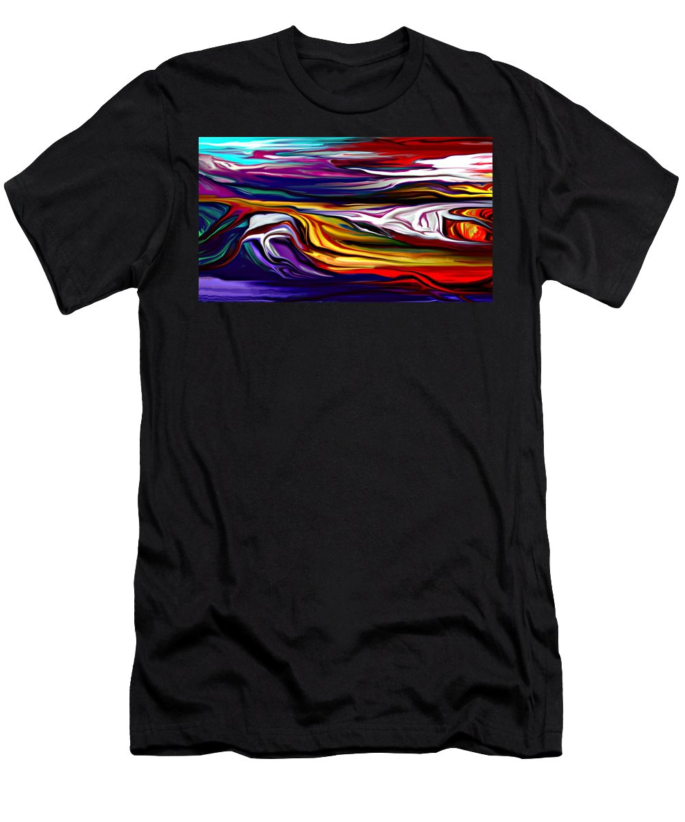 Abstract Men's T-Shirt (Athletic Fit) featuring the digital art Abstract 06-12-09 by David Lane