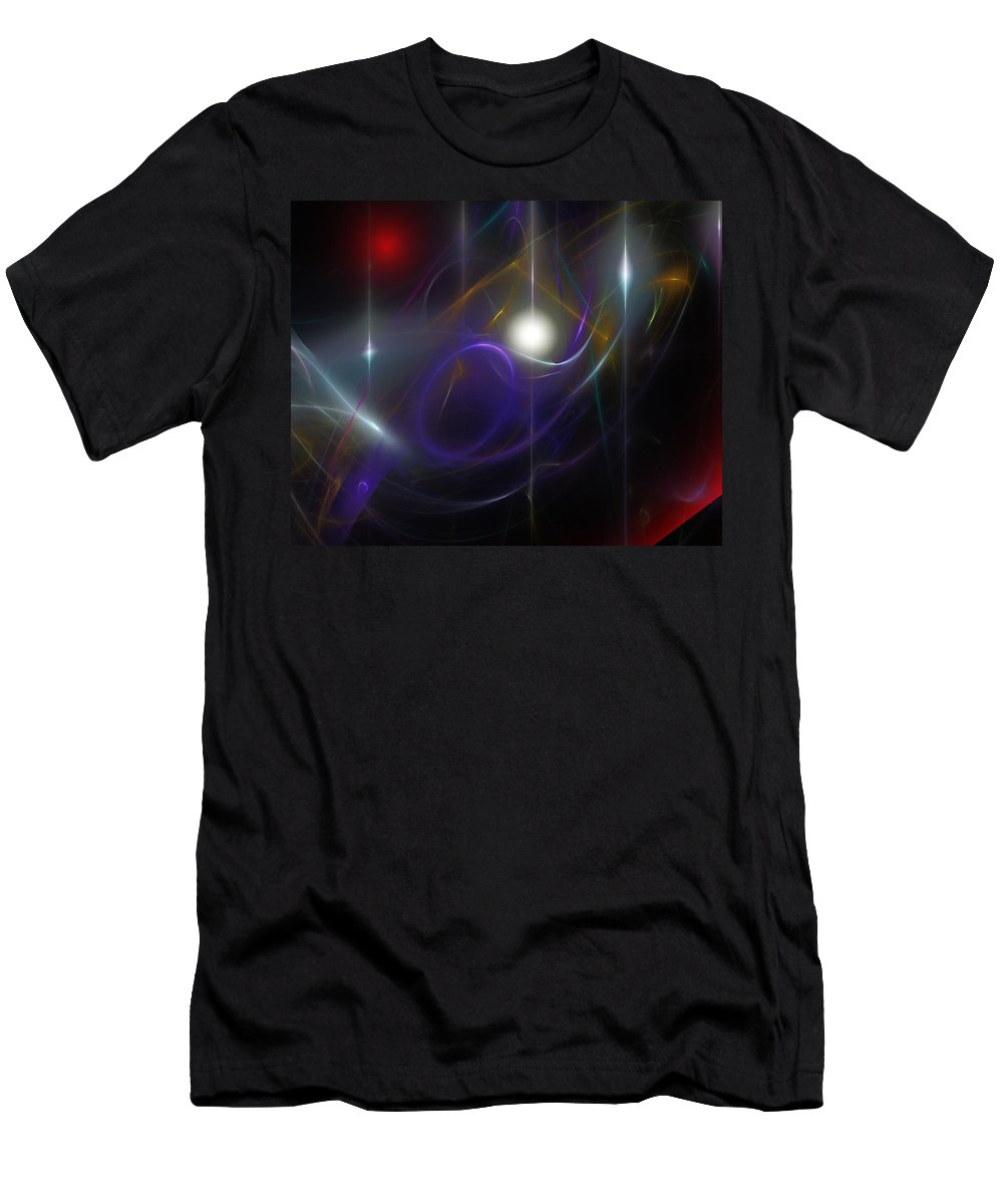 Abstract Men's T-Shirt (Athletic Fit) featuring the digital art Abstract 062111 by David Lane