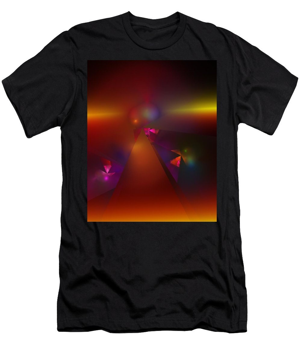 Fine Art Men's T-Shirt (Athletic Fit) featuring the digital art Abstract 062111a by David Lane