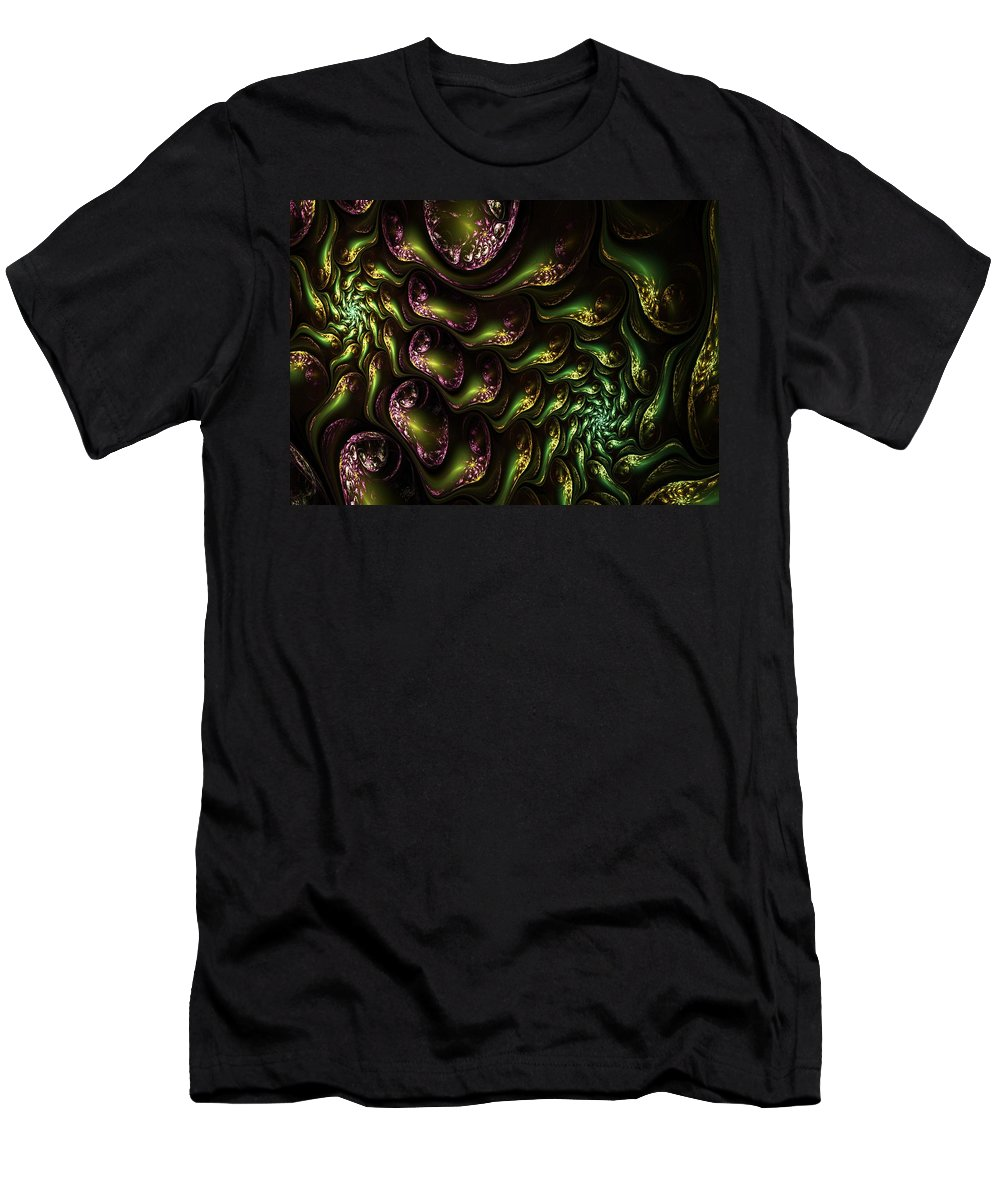 Expressionism Men's T-Shirt (Athletic Fit) featuring the digital art Abstract 062210 by David Lane