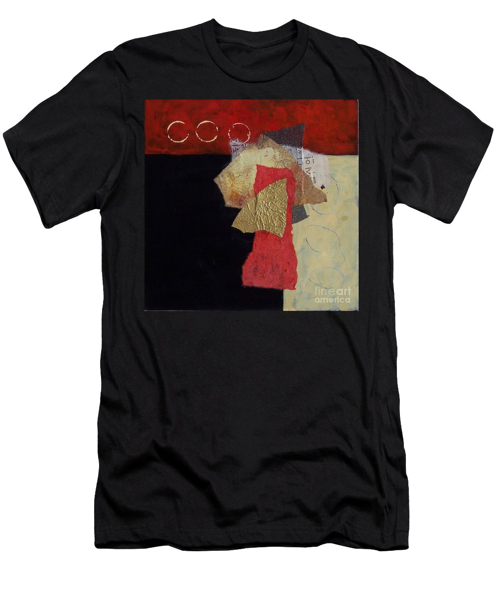 Abstract Expressionism Men's T-Shirt (Athletic Fit) featuring the painting Abstract 070 by Donna Frost