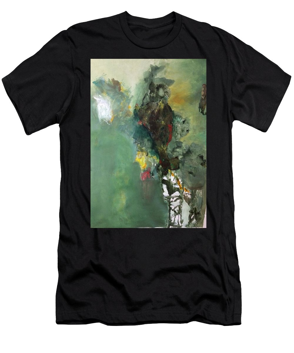 Abstract Men's T-Shirt (Athletic Fit) featuring the painting Abstract 1 by Lorraine Roth