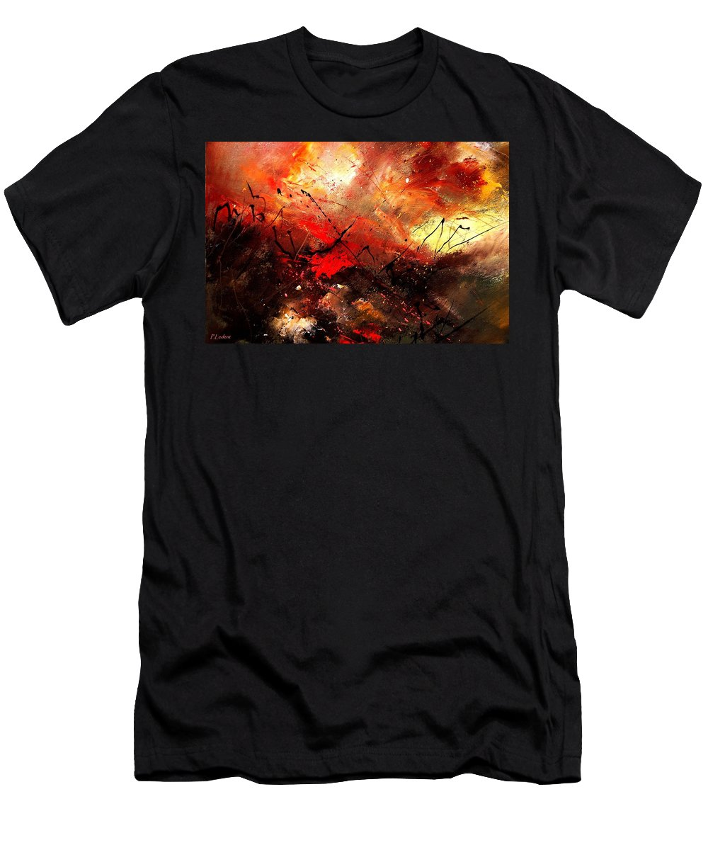 Abstract Men's T-Shirt (Athletic Fit) featuring the painting Abstract 100202 by Pol Ledent