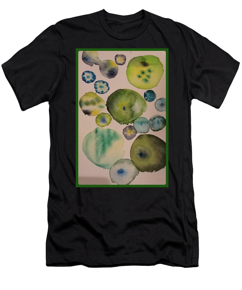Abstract Men's T-Shirt (Athletic Fit) featuring the painting Greens by Bonny Butler