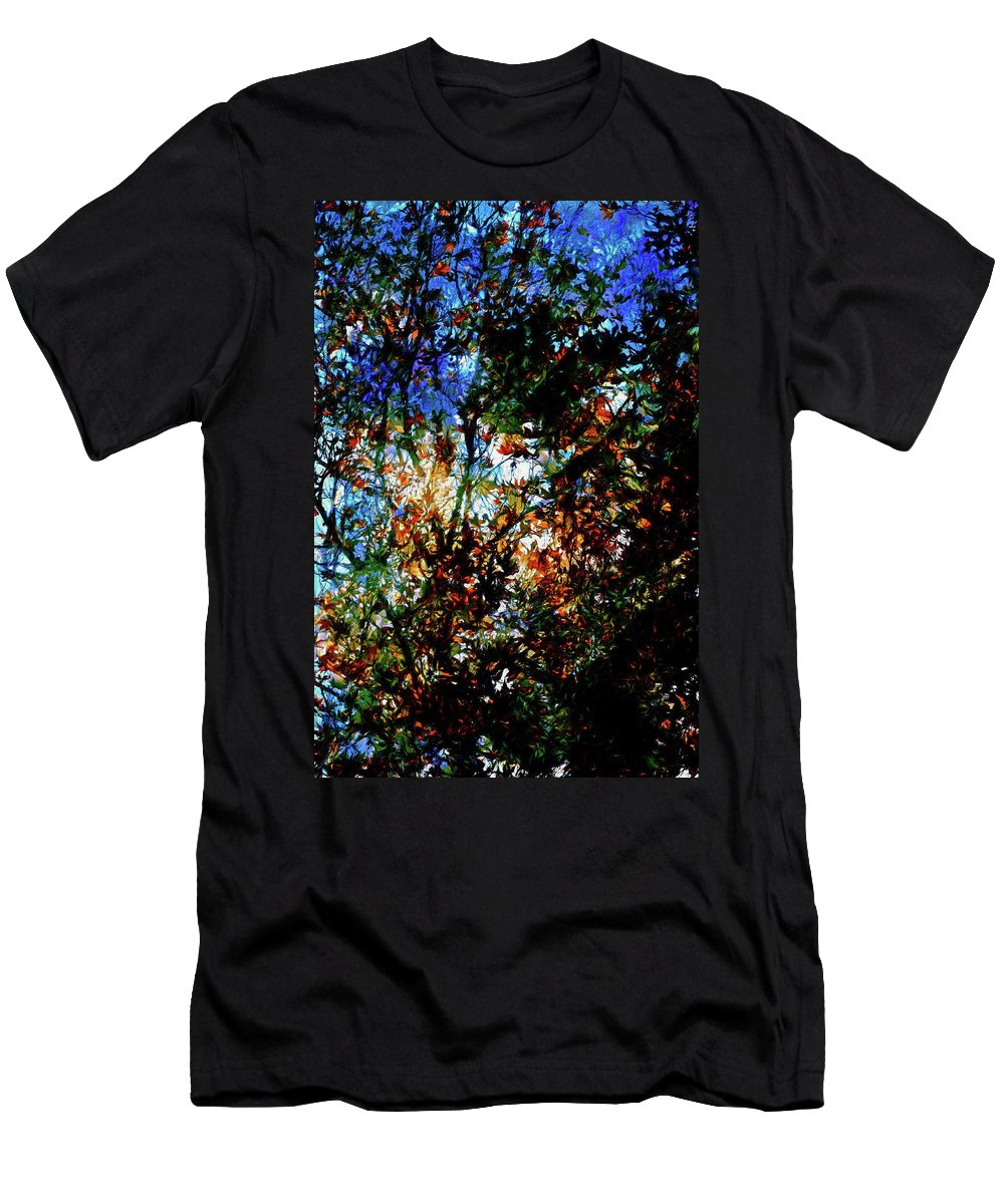 Abstract Men's T-Shirt (Athletic Fit) featuring the photograph Abstract 126 by Pamela Cooper