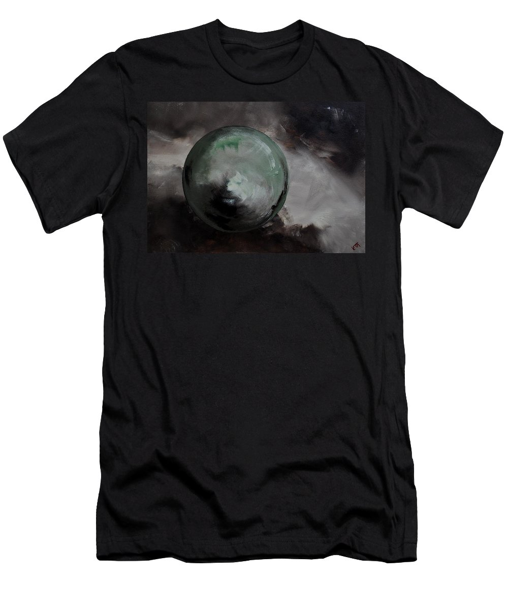 Abstract Men's T-Shirt (Athletic Fit) featuring the painting Abstract 13 by Pol Ledent
