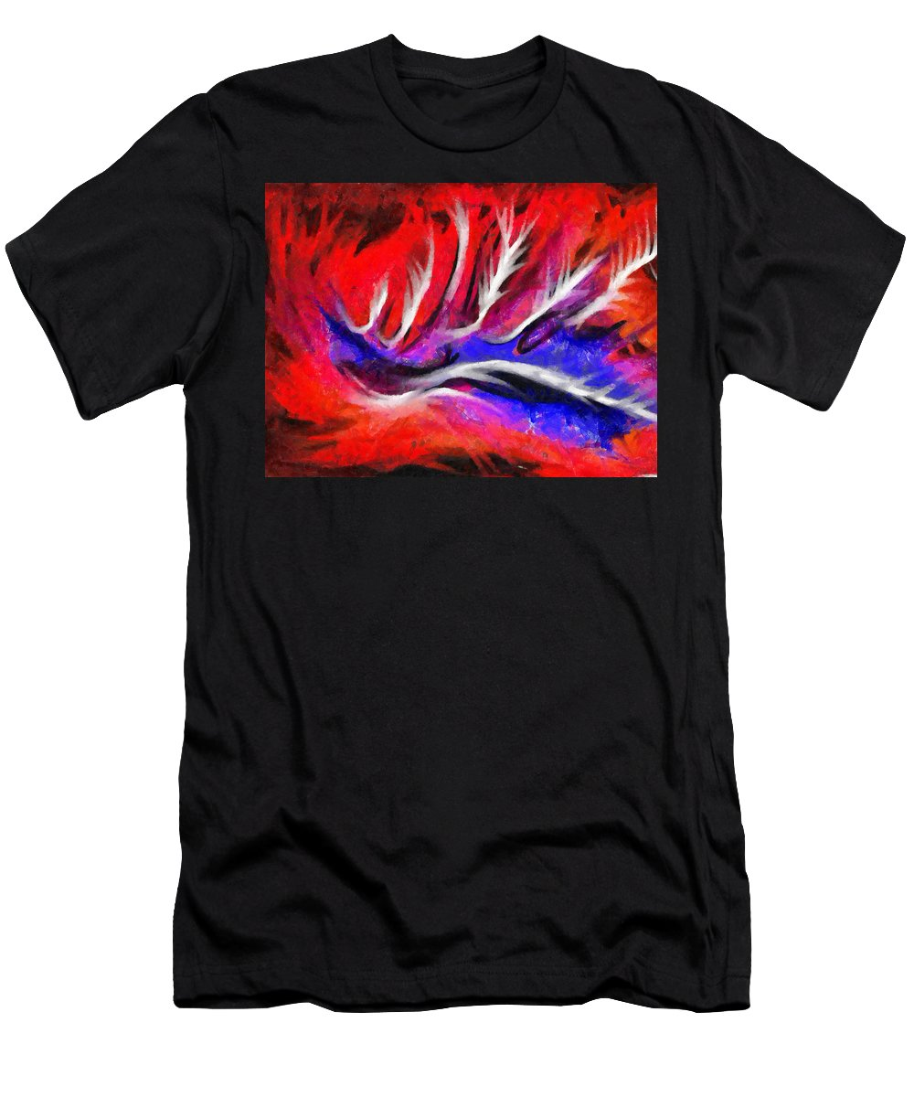 Abstract Men's T-Shirt (Athletic Fit) featuring the painting Abstract #45 by D A Diggs