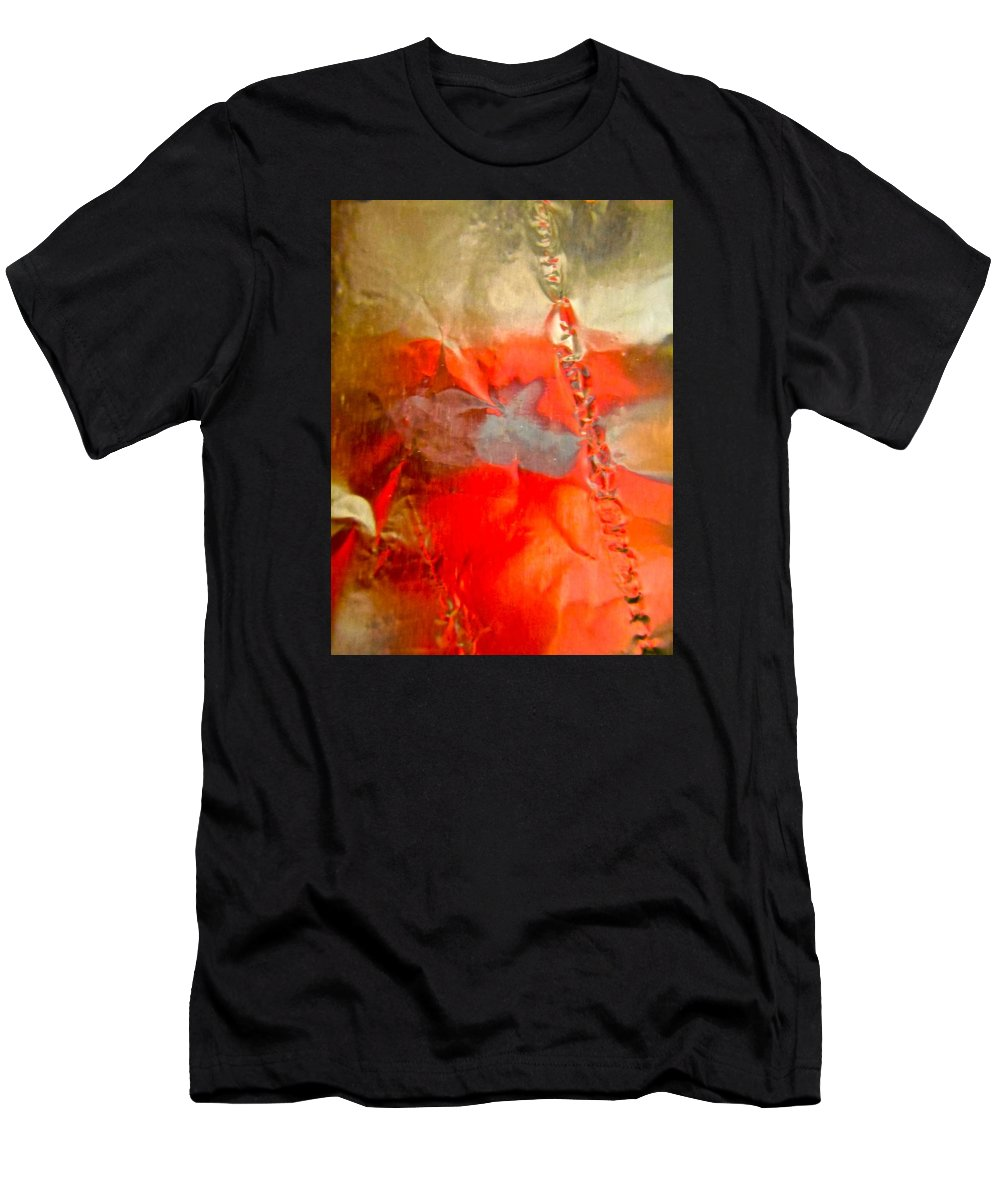 Red Men's T-Shirt (Athletic Fit) featuring the photograph Abstract 6043 by Stephanie Moore