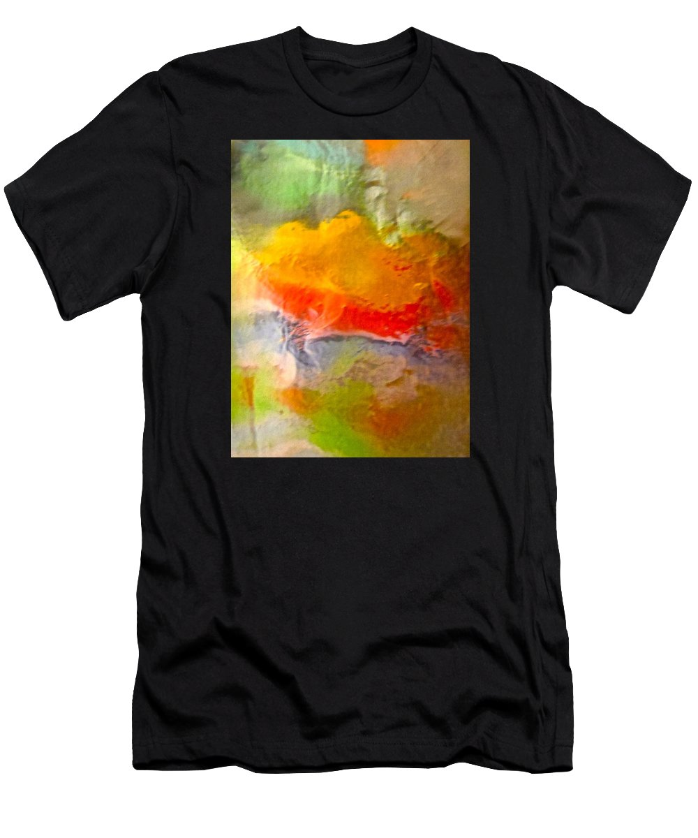 Red Men's T-Shirt (Athletic Fit) featuring the photograph Abstract 6048 by Stephanie Moore