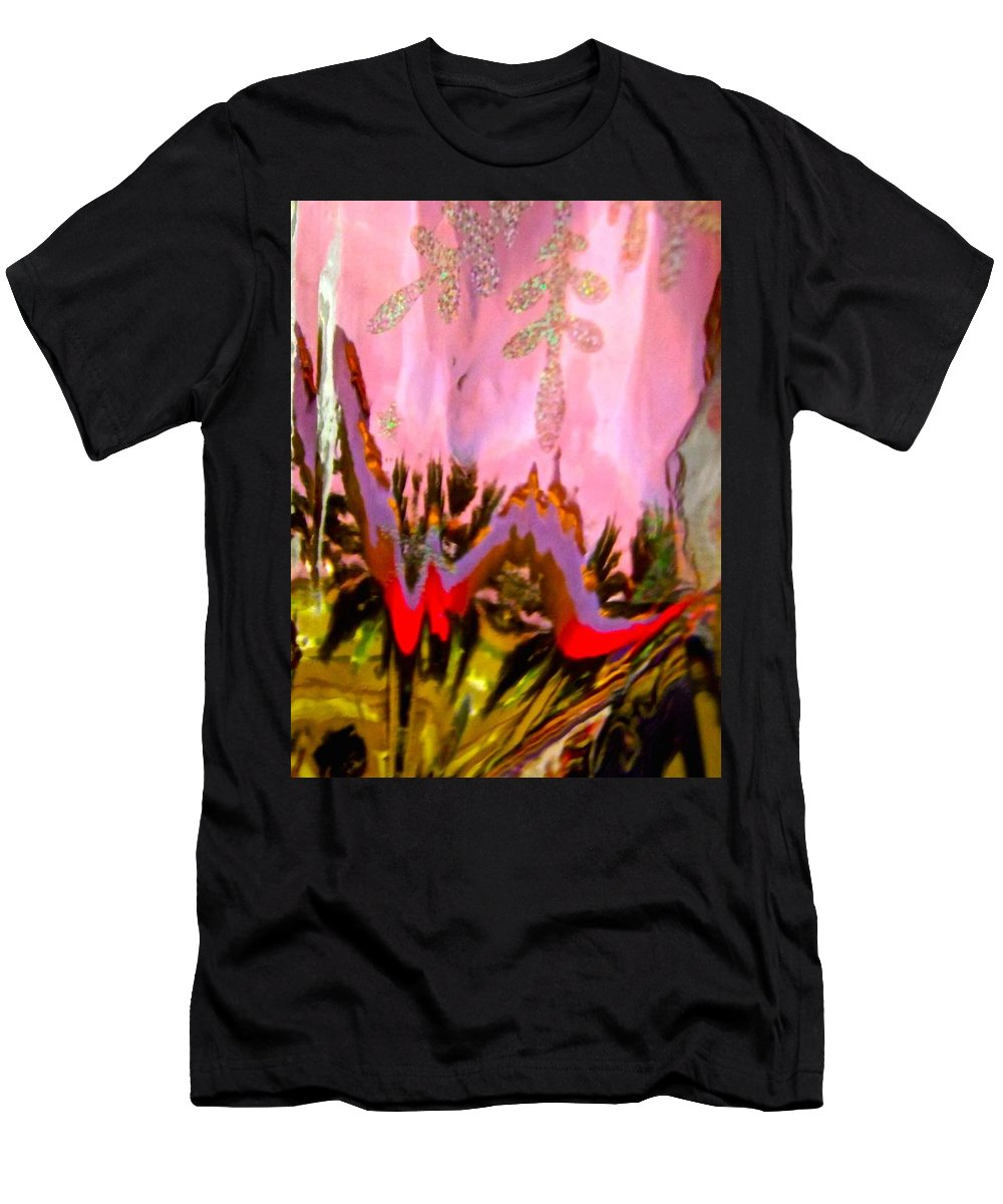 Pink Men's T-Shirt (Athletic Fit) featuring the photograph Abstract 6137 by Stephanie Moore