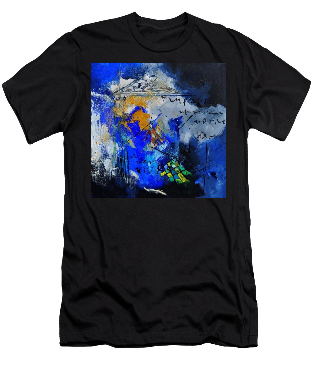 Abstract Men's T-Shirt (Athletic Fit) featuring the painting Abstract 6611701 by Pol Ledent