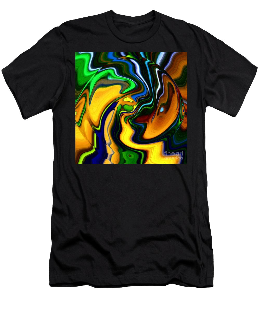 Abstract Men's T-Shirt (Athletic Fit) featuring the digital art Abstract 7-10-09 by David Lane