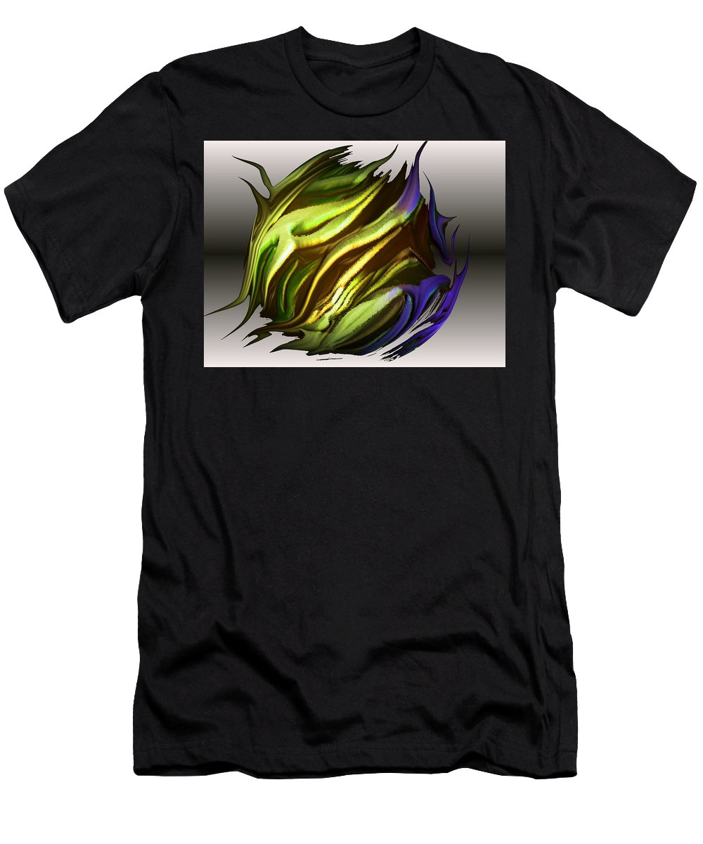 Abstract Men's T-Shirt (Athletic Fit) featuring the digital art Abstract 7-26-09-a by David Lane