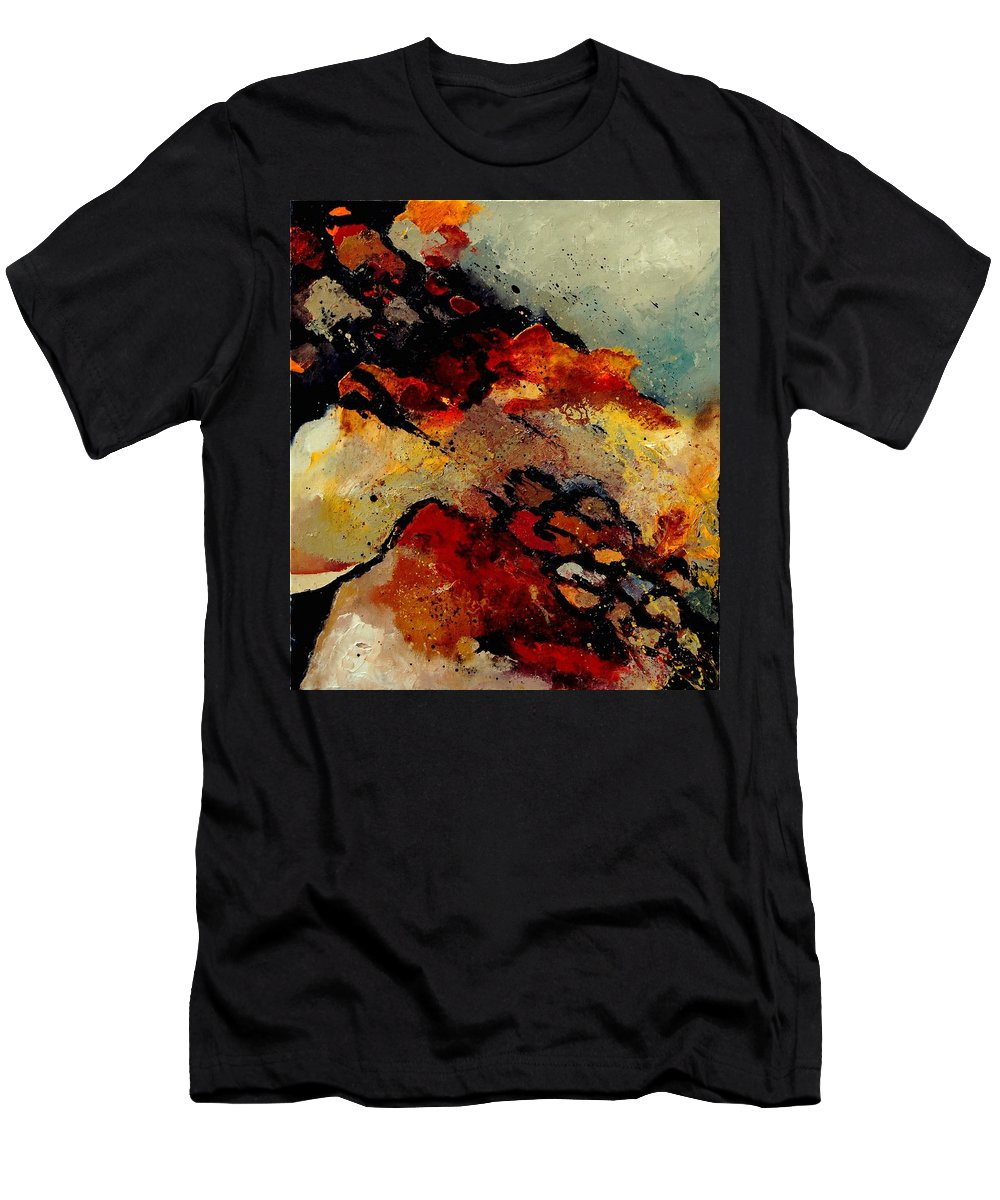 Abstract Men's T-Shirt (Athletic Fit) featuring the painting Abstract 780707 by Pol Ledent