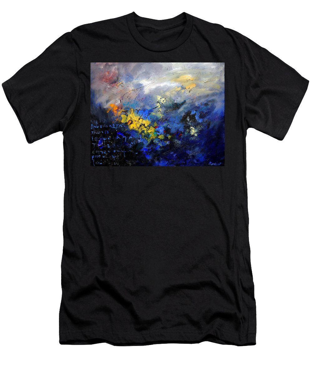 Abstract Men's T-Shirt (Athletic Fit) featuring the painting Abstract 970208 by Pol Ledent