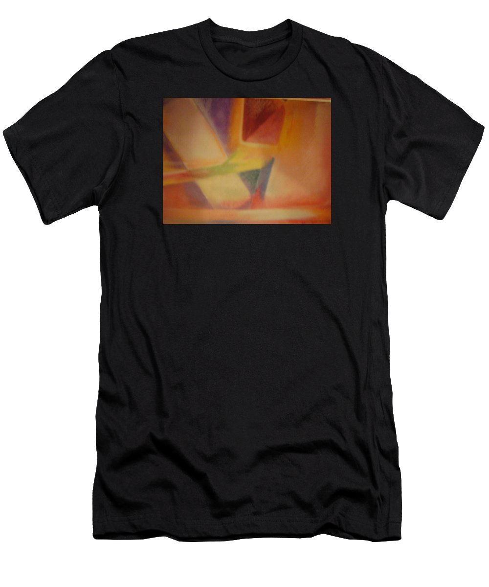 Abstract Art Men's T-Shirt (Athletic Fit) featuring the pastel Abstract Art by Sylvester Wofford