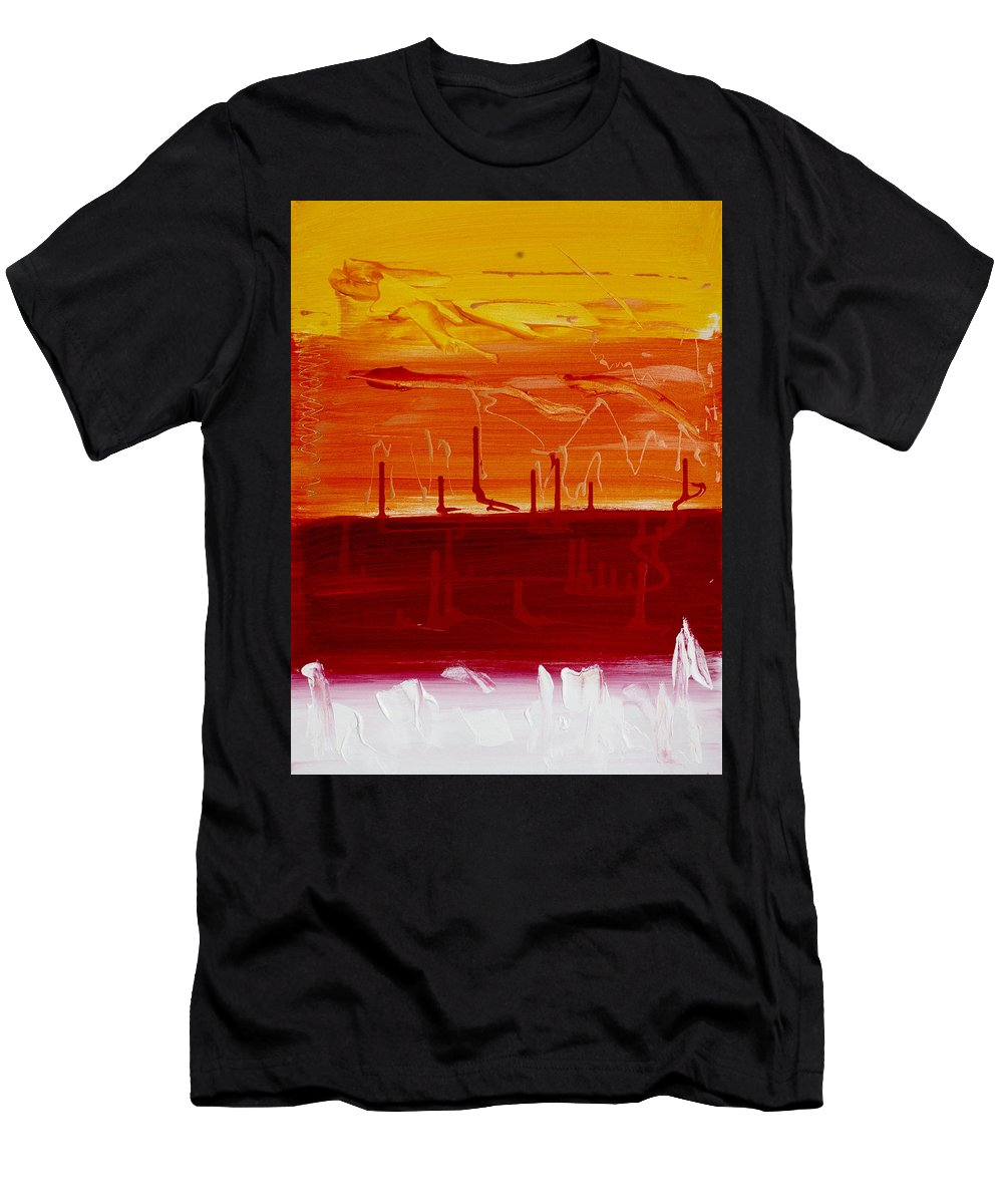 Modern Men's T-Shirt (Athletic Fit) featuring the painting Abstract B-14 by Tadas Zaicikas