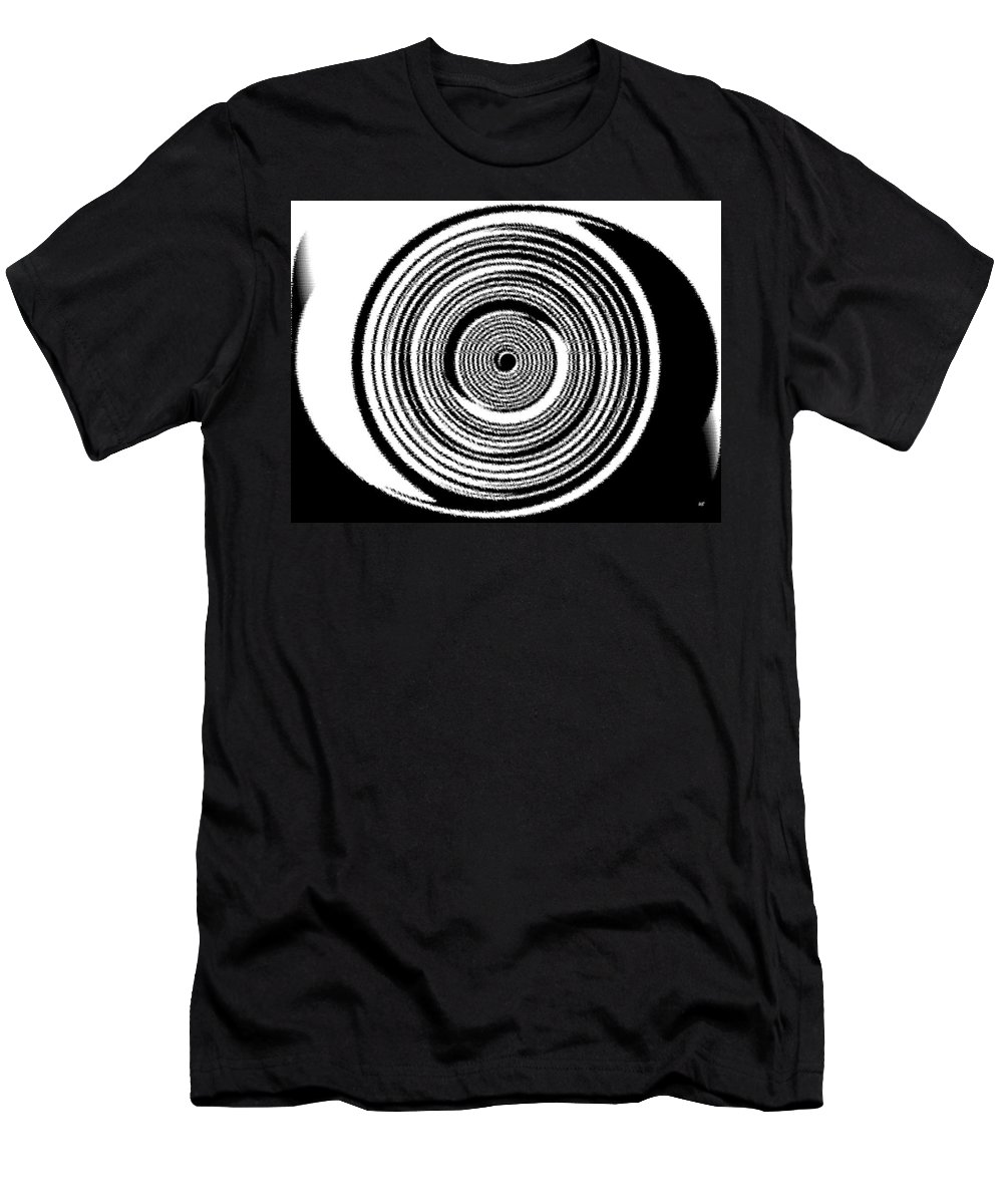 Abstract Men's T-Shirt (Athletic Fit) featuring the digital art Abstract Clock Spring by Will Borden