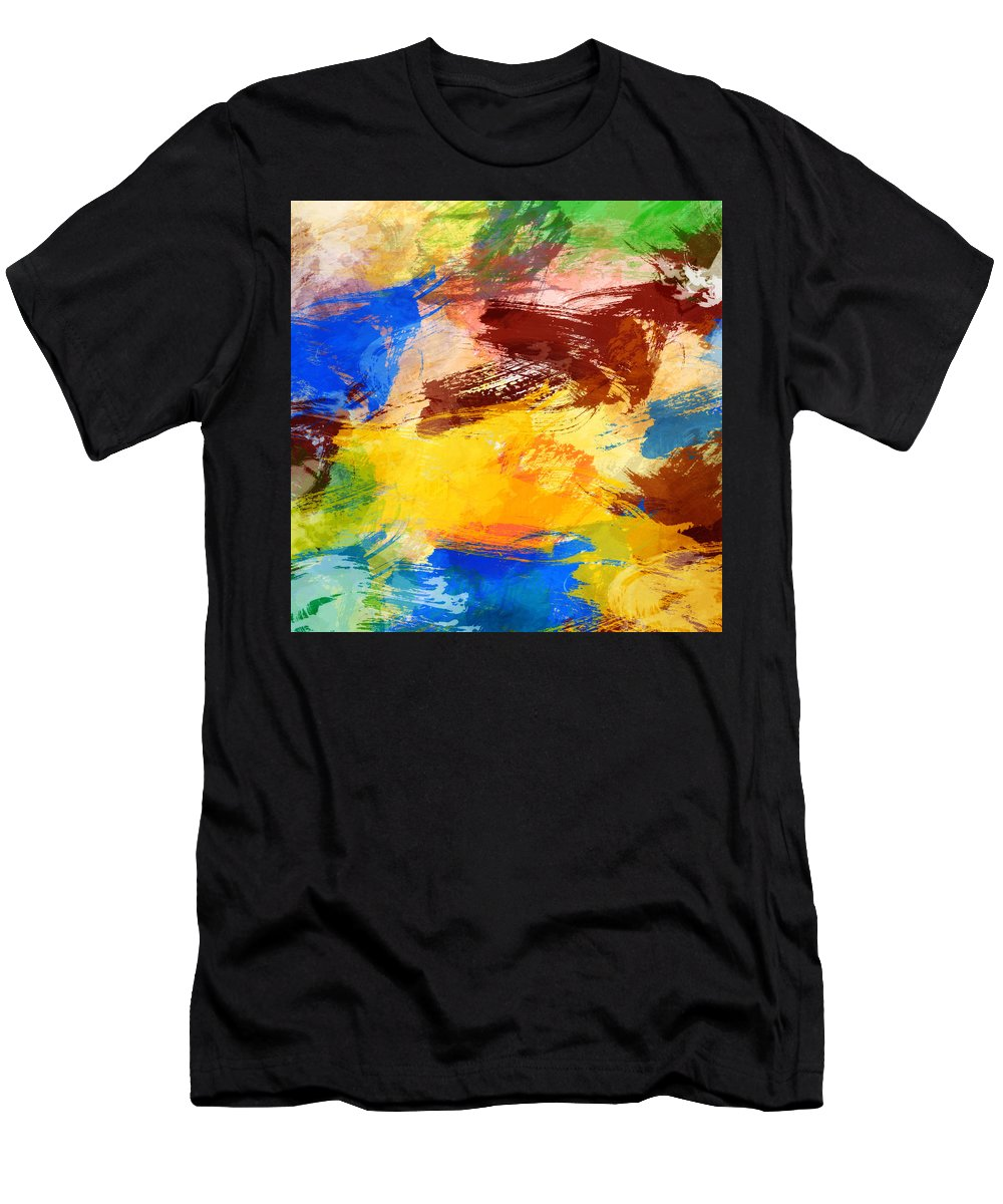 Abstract Men's T-Shirt (Athletic Fit) featuring the digital art Abstract by Denis Borodin